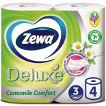 Туалетная бумага Zewa Deluxe 3-слойная Ромашка Белая 4 шт Фото
