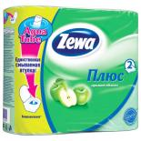 Туалетная бумага Zewa Plus 2-слойная Яблоко Зеленая 4 шт Фото