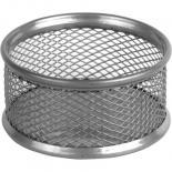 Подставка для скрепок Axent 80x80x40мм, wire mesh, silver Фото