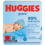 Влажные салфетки Huggies Ultra Comfort Pure 56 х 3 шт Фото 1