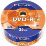 Диск DVD Verbatim 4.7Gb 16X Spindle Wrap box 25шт Фото