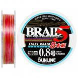 Шнур Sunline Super Braid 5 (8 Braid) 200m #0.8/0.148мм 5.1кг Фото