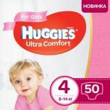Подгузник Huggies Ultra Comfort 4 Jumbo для девочек (7-16 кг) 50 шт Фото