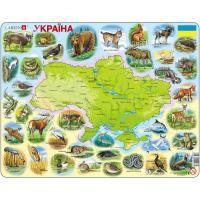 Пазл Larsen Карта Украины - животный мир Фото