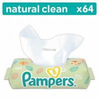 Влажные салфетки Pampers Natural Clean 64шт Фото
