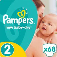 Подгузник Pampers New Baby-Dry Mini Размер 2 (3-6 кг), 68 шт Фото