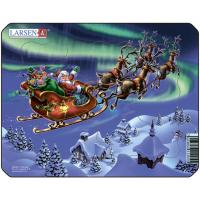 Пазл Larsen Mini Дед Мороз и северное сияние Фото