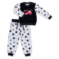 Набор детской одежды Breeze велюровый с вертолетом и штанишками в звездочку Фото