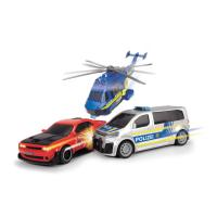 Ігровий набір Dickie Toys Полицейская погоня с 2 машинами и вертолетом Фото