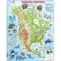 Пазл Larsen рамка-вкладыш Карта Северной Америки - животный ми Фото