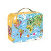 Пазл Janod двусторонний Карта мира 300 элементов Фото