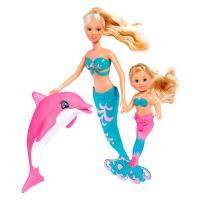 Кукла Simba Штеффи и Эви Подруги-русалочки с дельфином и расче Фото
