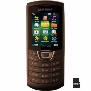 Мобільний телефон GT-C3200 (Monte Bar) Dark Brown Samsung (GT-C3200DNA) - фото 1