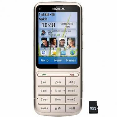 Мобільний телефон C3-01 (Touch and Type) Khaki Gold Nokia (002T7L4) - фото 1