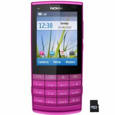 Мобільний телефон X3-02 (Touch and Type) Pink Nokia (002V3K2) - фото 1