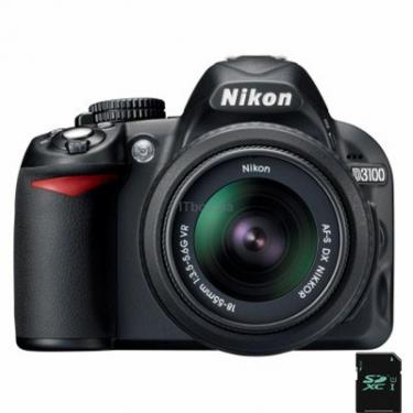 Цифровий фотоапарат D3100 kit AF-S DX 18-55mm VR Nikon (VBA280K001) - фото 1