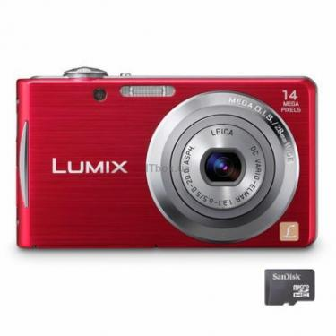 Цифровий фотоапарат Lumix DMC-FS16 red Panasonic (DMC-FS16EE-R) - фото 1