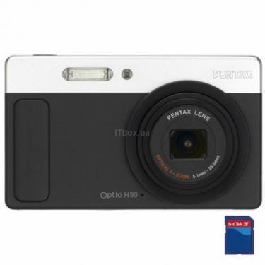 Цифровий фотоапарат Optio H90 black Pentax (16517) - фото 1