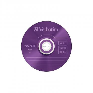 Диск DVD Verbatim 4.7Gb 16X Slim case 5 шт Color (43557) - фото 3
