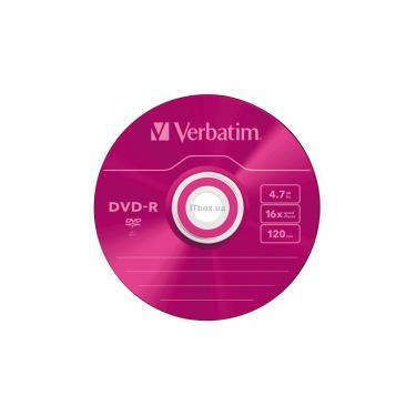 Диск DVD Verbatim 4.7Gb 16X Slim case 5 шт Color (43557) - фото 4