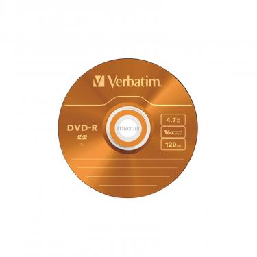 Диск DVD Verbatim 4.7Gb 16X Slim case 5 шт Color (43557) - фото 5