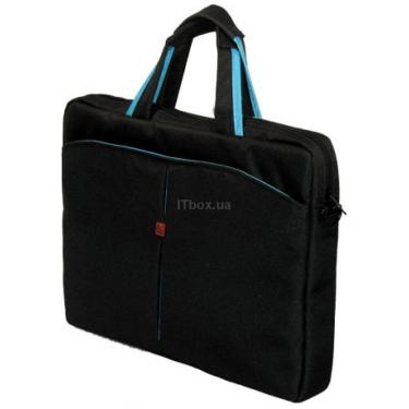 "Сумка для ноутбука Continent 15.4"" Computer Bag (CC-01black/blue) - фото 1"