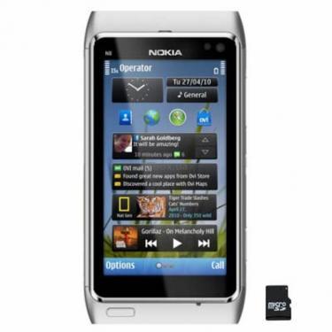 Мобильный телефон N8-00 Silver White Nokia (002Q7T7) - фото 1