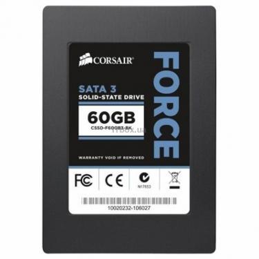 """Накопитель SSD 2.5""""  60GB CORSAIR (CSSD-F60GB3A-BK) - фото 1"""