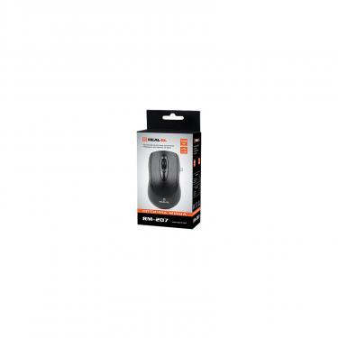 Мышка REAL-EL RM-207, USB, black Фото 3
