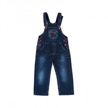 Комбинезон A-Yugi джинсовый утепленный (1074-98B-blue) - фото 1