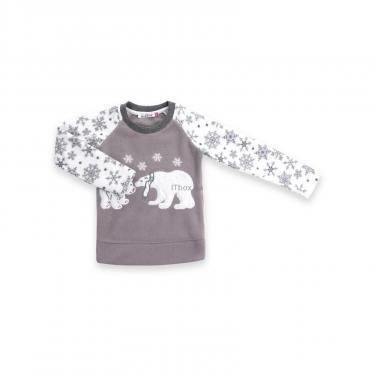 Пижама Matilda флисовая с мишками и снежинками (7161-116G-white) - фото 2