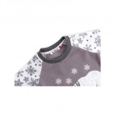 Пижама Matilda флисовая с мишками и снежинками (7161-116G-white) - фото 4