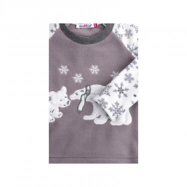 Пижама Matilda флисовая с мишками и снежинками (7161-116G-white) - фото 5