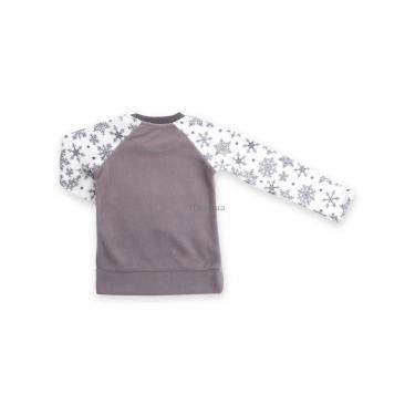 Пижама Matilda флисовая с мишками и снежинками (7161-116G-white) - фото 6