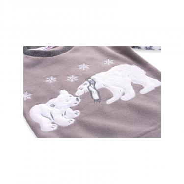 Пижама Matilda флисовая с мишками и снежинками (7161-116G-white) - фото 7