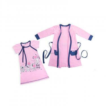 """Пижама Matilda и халат с мишками """"Love"""" (7445-140G-pink) - фото 1"""