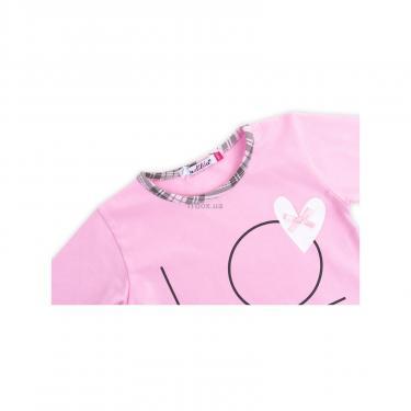 """Пижама Matilda с сердечками """"Love"""" (7585-128G-pink) - фото 6"""