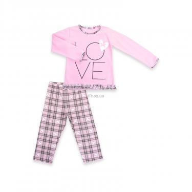 """Пижама Matilda с сердечками """"Love"""" (7585-128G-pink) - фото 1"""