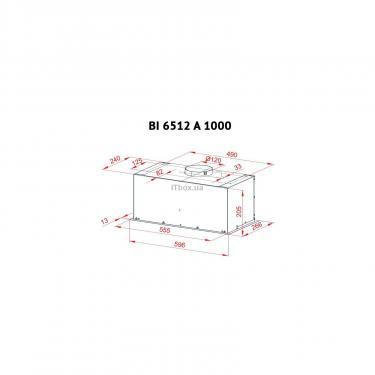 Вытяжка кухонная Perfelli BI 6512 A 1000 W LED Фото 5