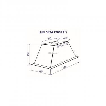 Вытяжка кухонная MINOLA HBI 5824 BL 1200 LED - фото 4
