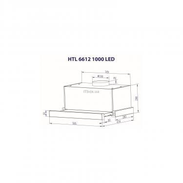 Вытяжка кухонная Minola HTL 6612 I 1000 LED Фото 8