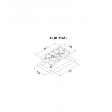 Варочная поверхность Perfelli HGM 31413 WH Фото 6
