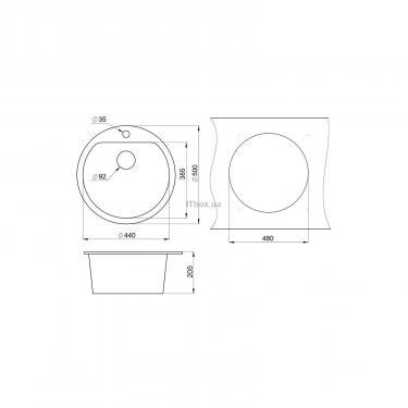Мойка кухонная Minola MRG 1045-50 Черный Фото 1