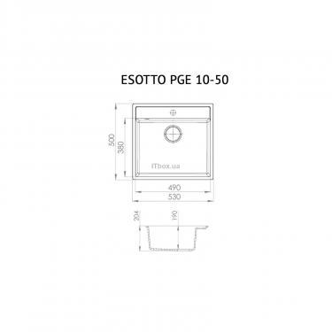 Мийка кухонна Perfelli ESOTTO PGE 10-50 WHITE - фото 6