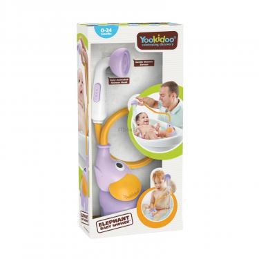 Іграшка для ванної Yookidoo дитячий душ Слоненя, бузковий (70366) - фото 8