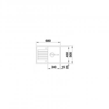 Мойка кухонная BLANCO 524722 ZIA 45S COMPACT ТЕМНАЯ СКАЛА - фото 3