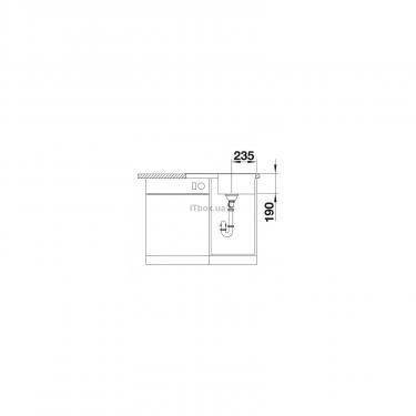 Мойка кухонная BLANCO 524722 ZIA 45S COMPACT ТЕМНАЯ СКАЛА - фото 5