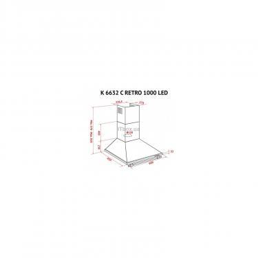 Вытяжка кухонная Perfelli K 6632 C IV RETRO 1000 LED Фото 7