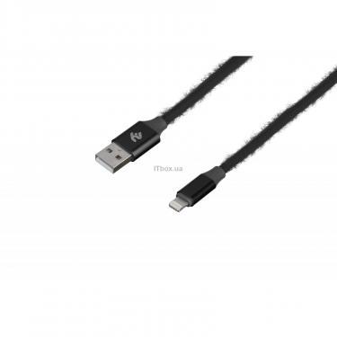 Дата кабель 2E USB 2.0 AM to Lightning 1.0m Fur black Фото 1