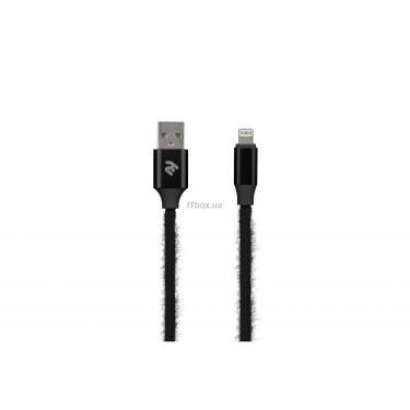 Дата кабель 2E USB 2.0 AM to Lightning 1.0m Fur black Фото